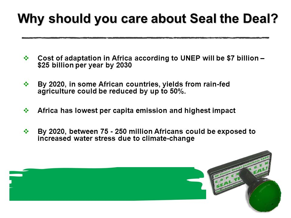 Why should you care about Seal the Deal.