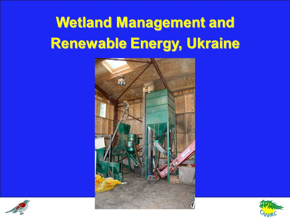 Wetland Management and Renewable Energy, Ukraine