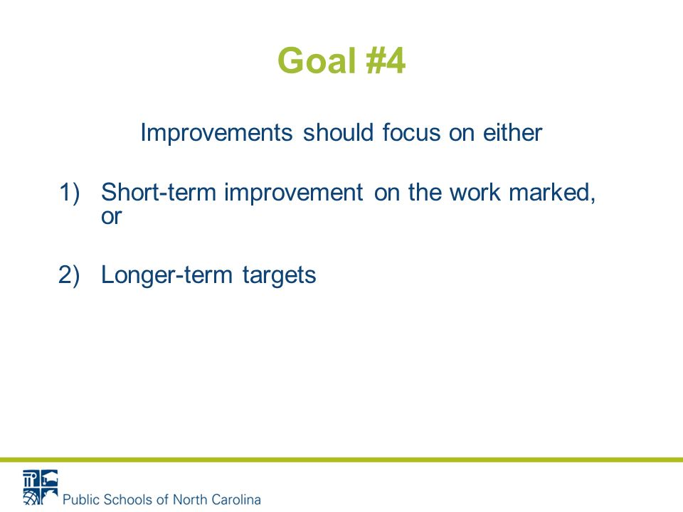 Goal #3 Students need time to make improvements on their work