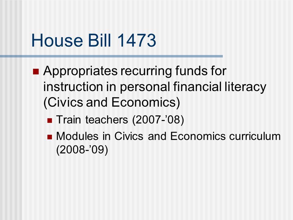 Personal financial literacy pfl whats it all about ppt download 12 senate bill 1113 appropriate funds for instruction in personal financial literacy algebra i and integrated math beginning with the 2008 09 school year fandeluxe Images