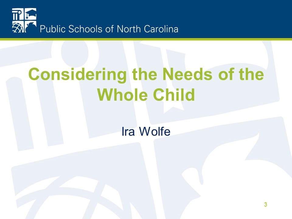 Considering the Needs of the Whole Child Ira Wolfe 3