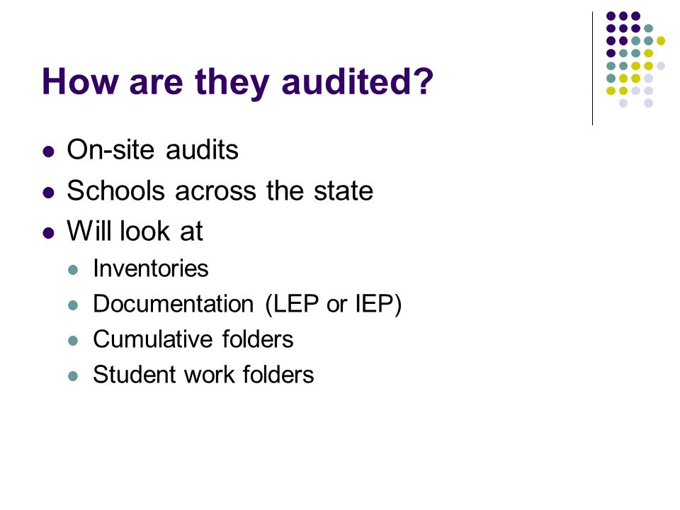How are they audited.