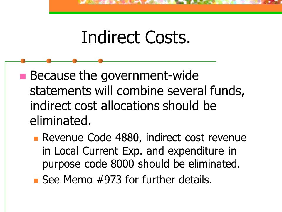 Indirect Costs.
