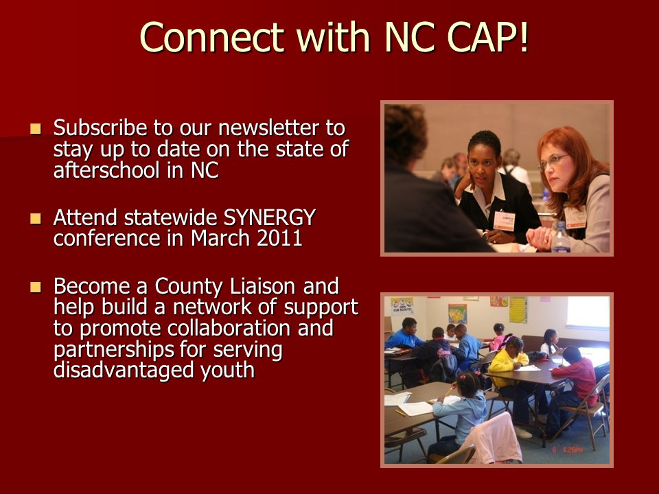 Connect with NC CAP.