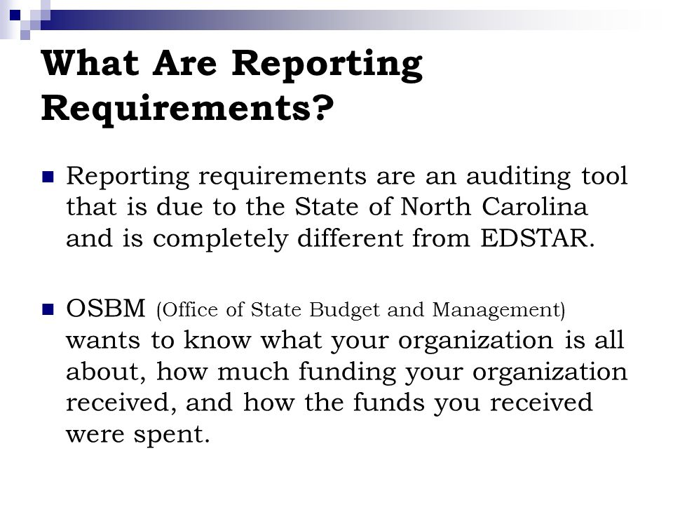 What Are Reporting Requirements.