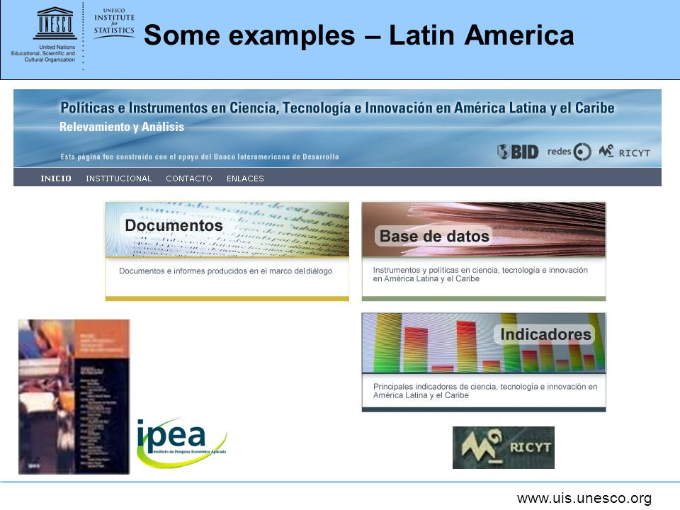 www.uis.unesco.org Some examples – Latin America