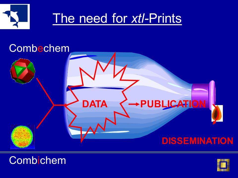 Combichem Combechem The need for xtl-Prints DATAPUBLICATION DISSEMINATION