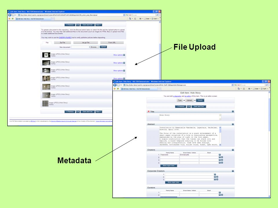 File Upload Metadata