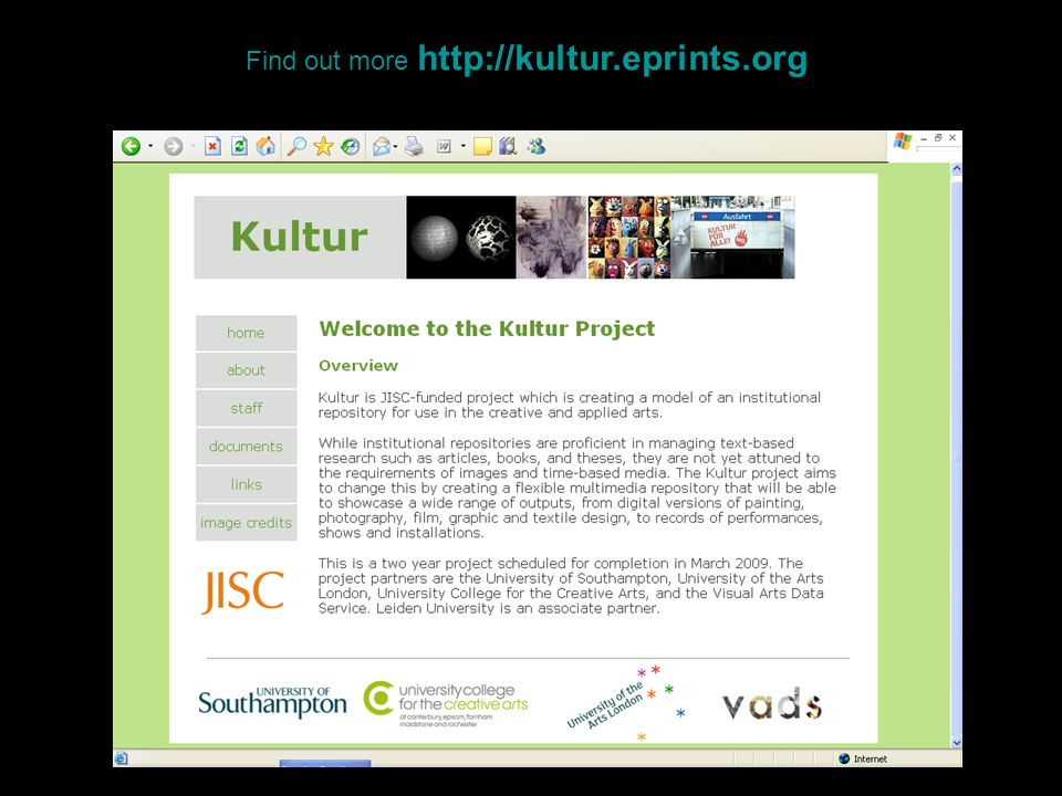 Find out more http://kultur.eprints.org