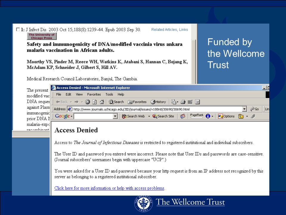 Funded by the Wellcome Trust