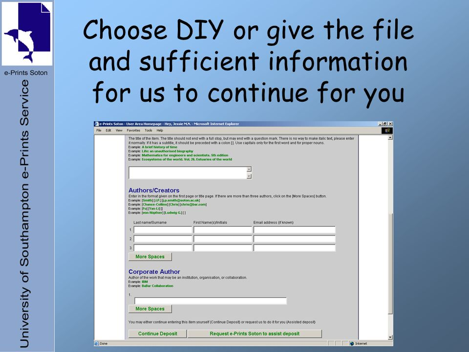 Choose DIY or give the file and sufficient information for us to continue for you