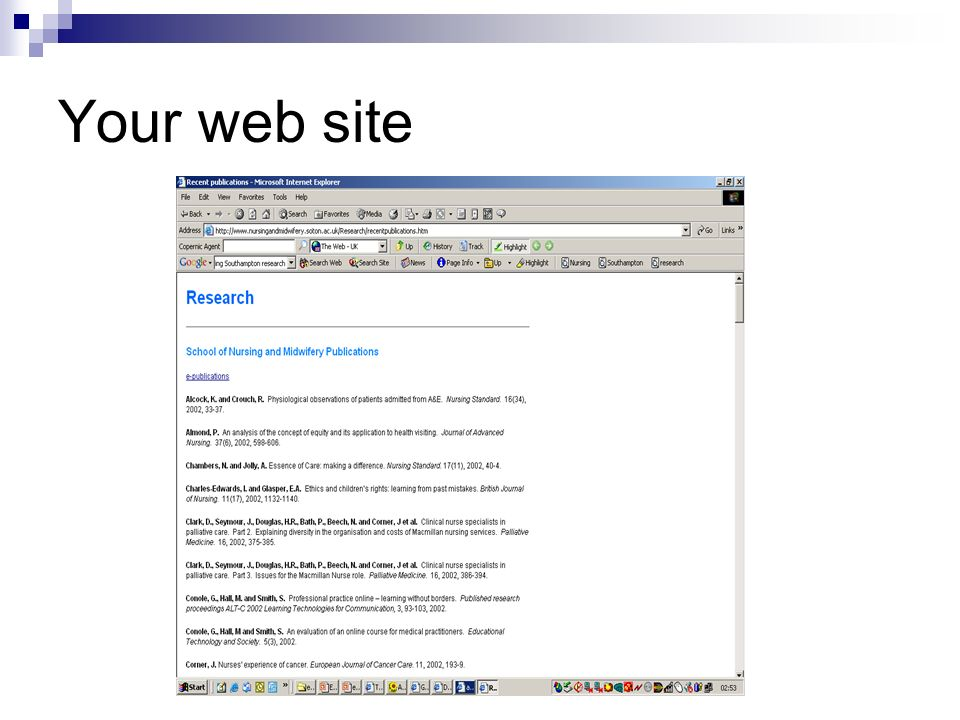 Your web site