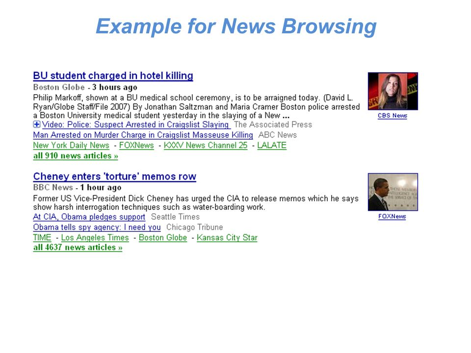 Example for News Browsing