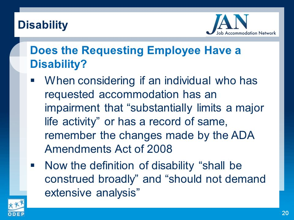 Does the Requesting Employee Have a Disability.