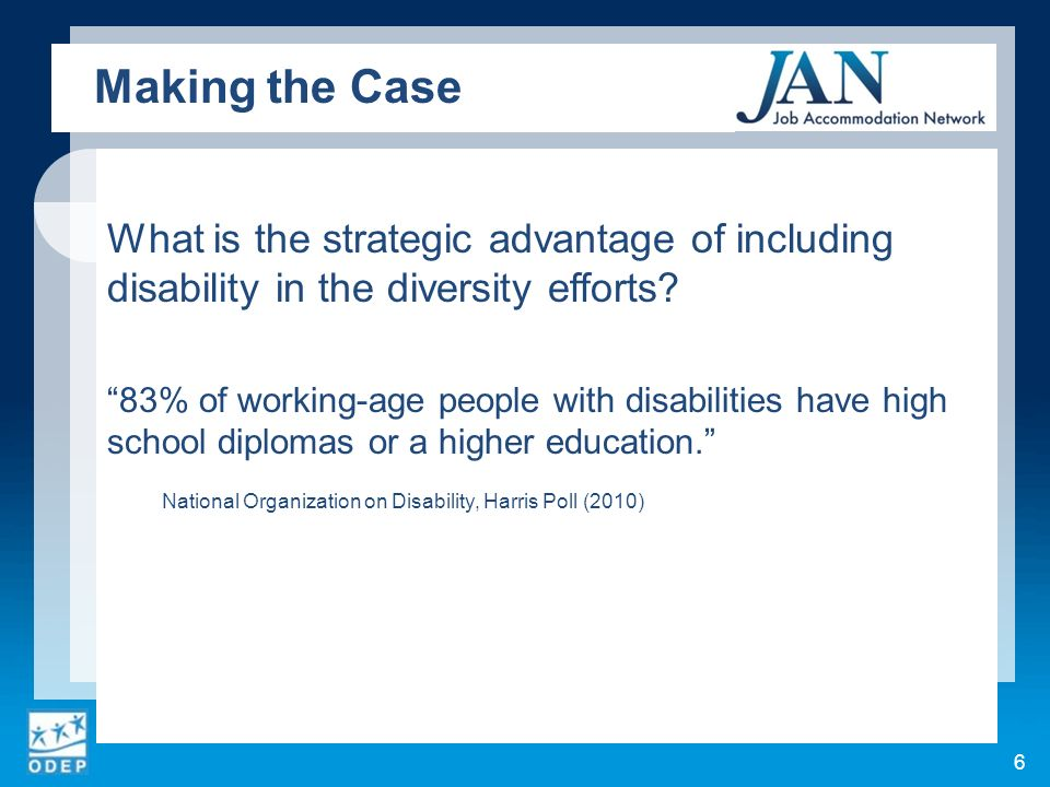 What is the strategic advantage of including disability in the diversity efforts.