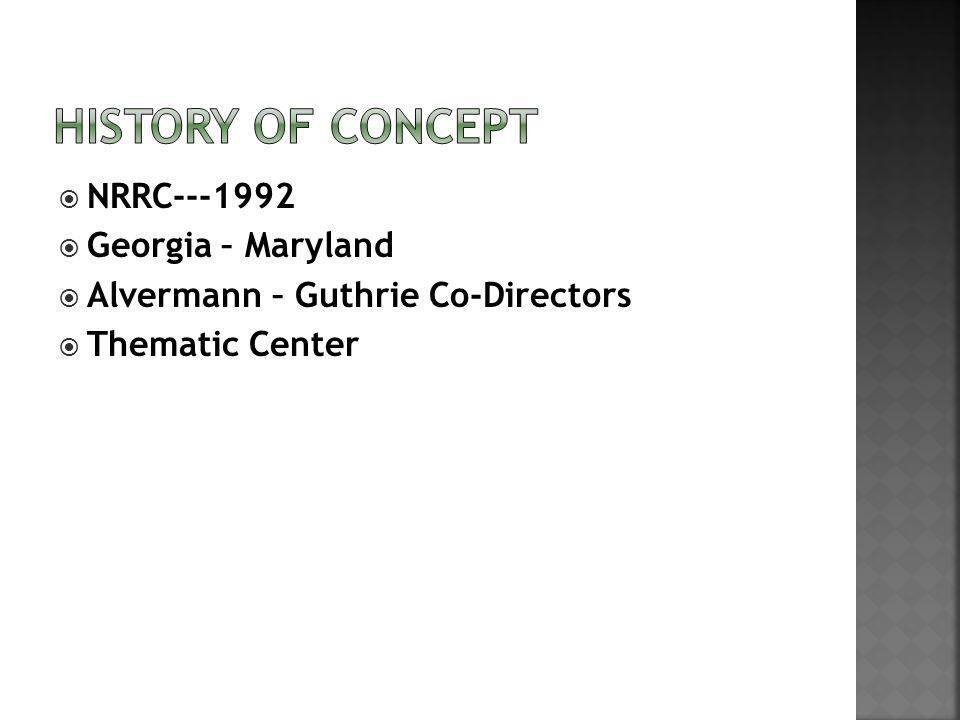 NRRC---1992 Georgia – Maryland Alvermann – Guthrie Co-Directors Thematic Center
