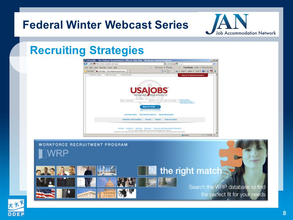 Federal Winter Webcast Series Recruiting Strategies 8