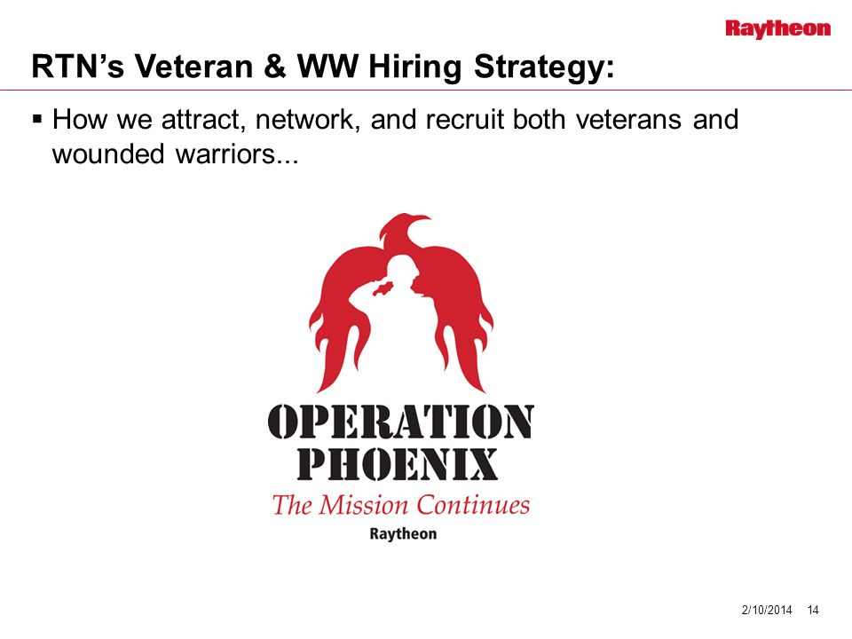 RTNs Veteran & WW Hiring Strategy: How we attract, network, and recruit both veterans and wounded warriors...