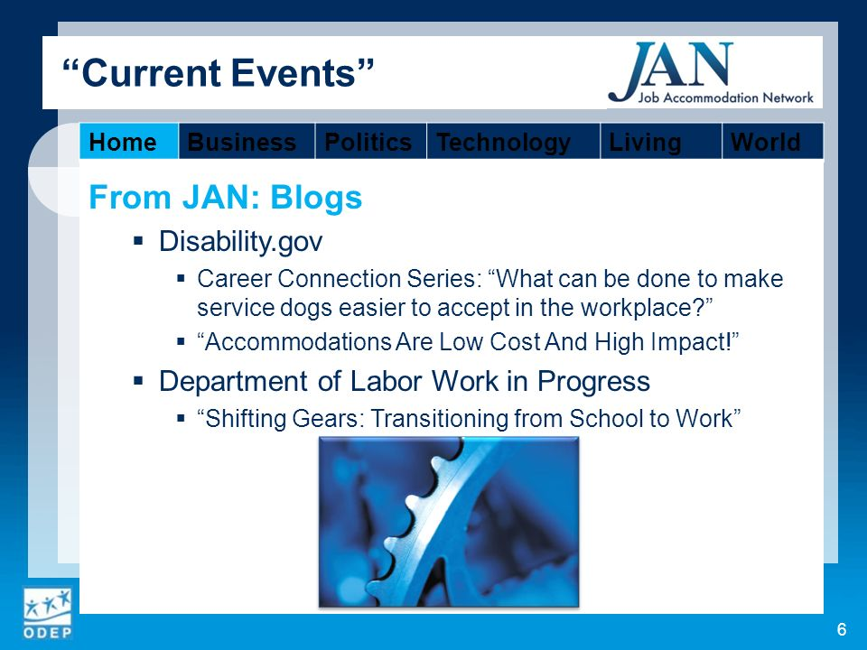 From JAN: Blogs Disability.gov Career Connection Series: What can be done to make service dogs easier to accept in the workplace.
