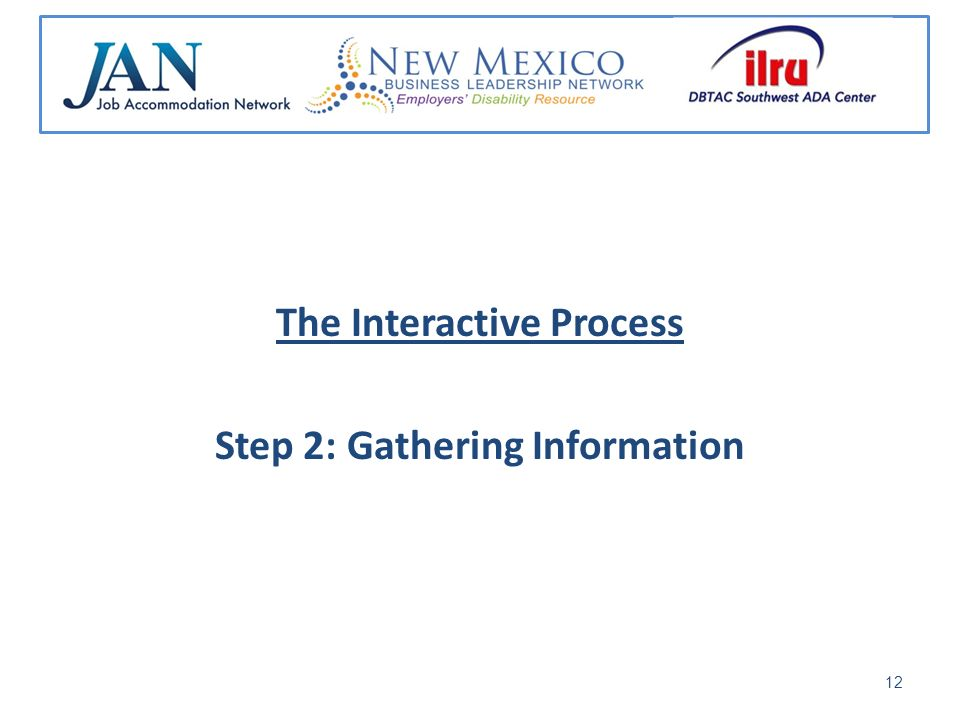 The Interactive Process Step 2: Gathering Information 12