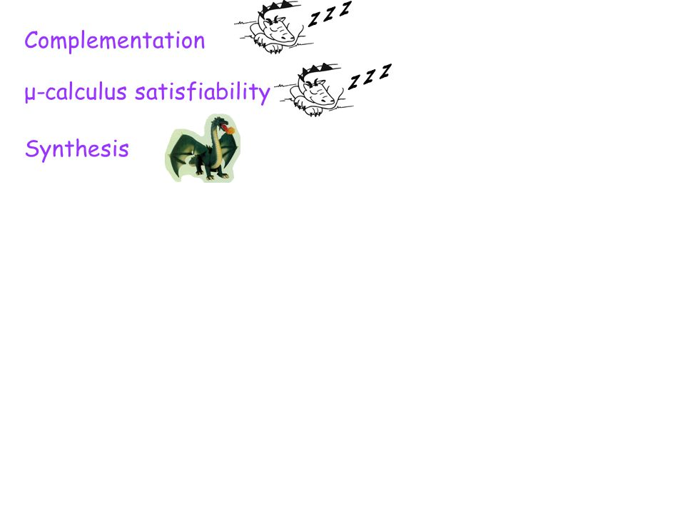 Complementation μ-calculus satisfiability Synthesis