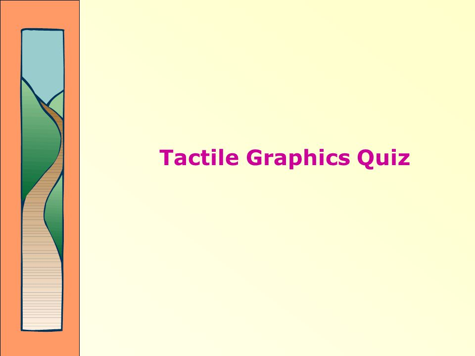 Tactile Graphics Quiz