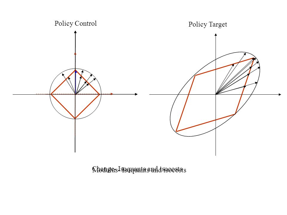 Policy Control Policy Target Modulus- Isoquants and isocosts Change- Isoquants and isocosts