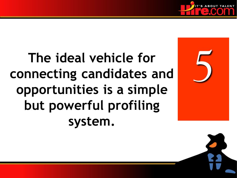 The ideal vehicle for connecting candidates and opportunities is a simple but powerful profiling system.