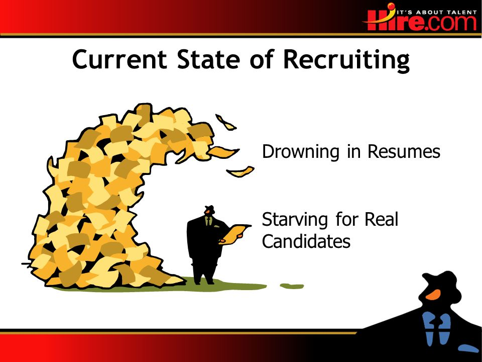 Current State of Recruiting Drowning in Resumes Starving for Real Candidates