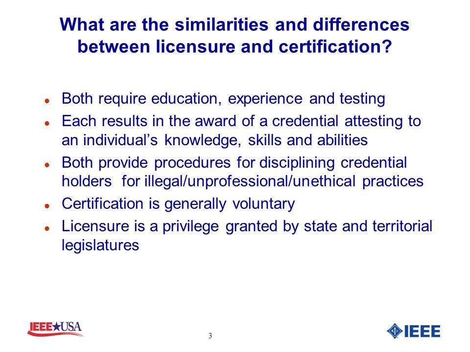 Questions and Answers About Licensure and Certification for ...