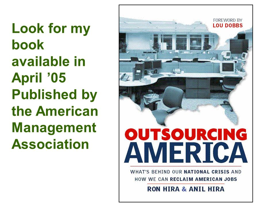Look for my book available in April 05 Published by the American Management Association