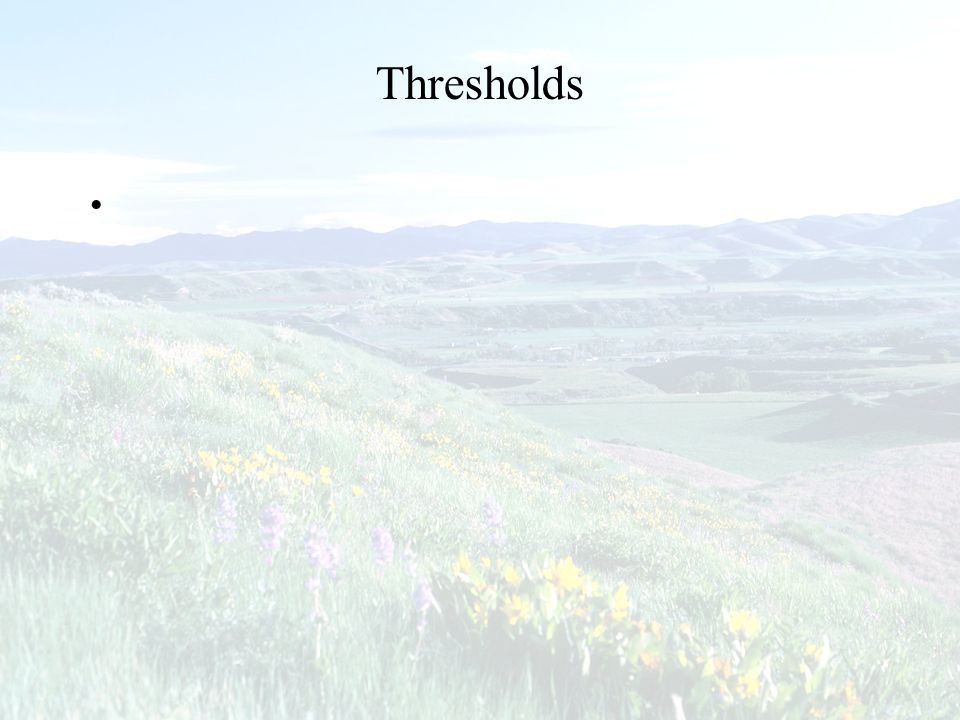 Thresholds