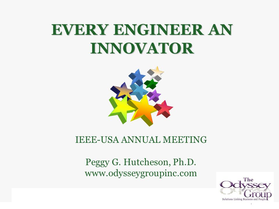 IEEE-USA ANNUAL MEETING Peggy G. Hutcheson, Ph.D.