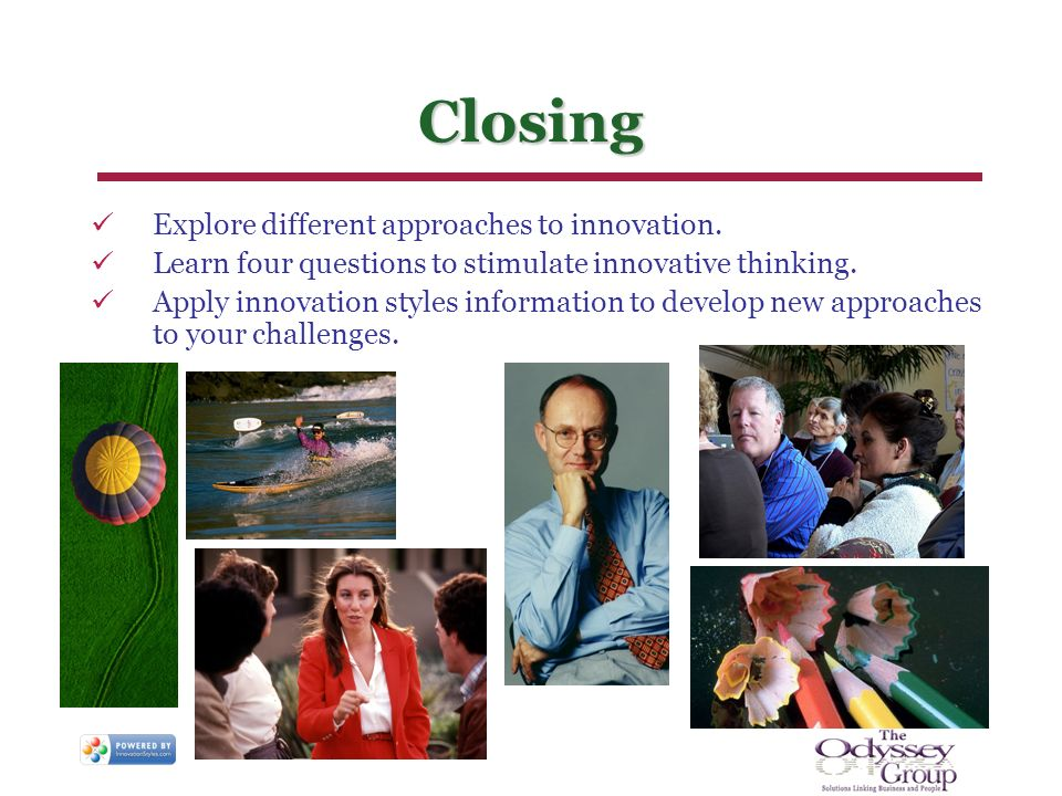 Explore different approaches to innovation. Learn four questions to stimulate innovative thinking.