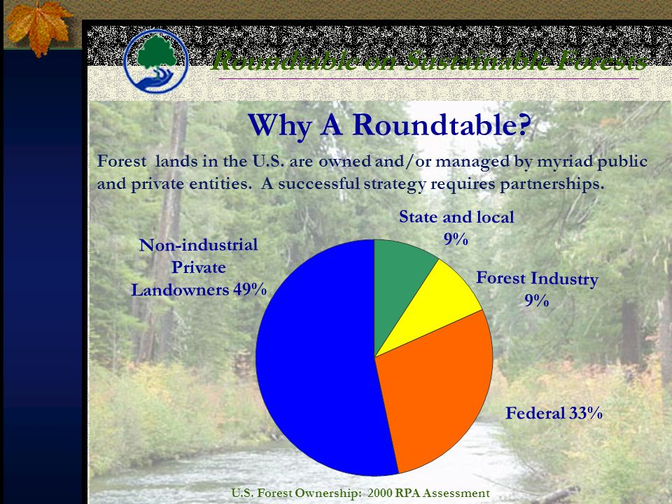 Roundtable on Sustainable Forests Why A Roundtable.