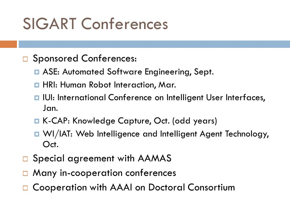 SIGART Conferences Sponsored Conferences: ASE: Automated Software Engineering, Sept.