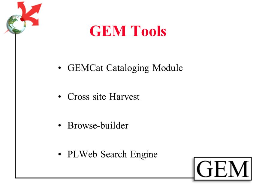 Resources Separate Metadata Embedded Metadata Harvest Local Site Index Union The Gateway Search Browse