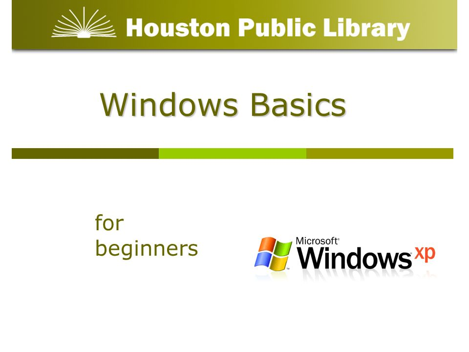 Windows Basics for beginners