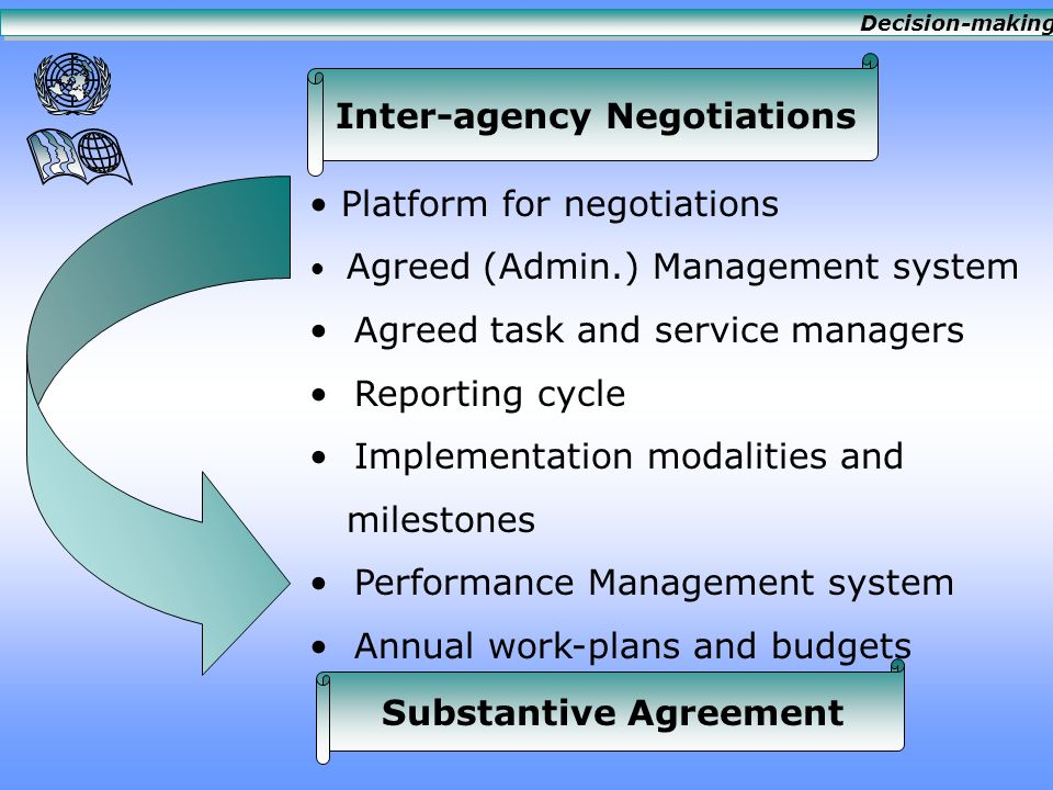 Agency Review Agency Position Reality of costs Returns and economies of scale Controls, audit, oversight Delegation of authority Fairness Predictability Efficiency Effectiveness Decision-making
