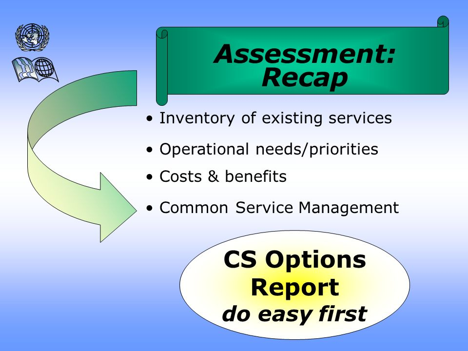 User roles Manager role Decision-making & oversight Technical/operational specifications Manageable Common Services Common Services Management Assessment