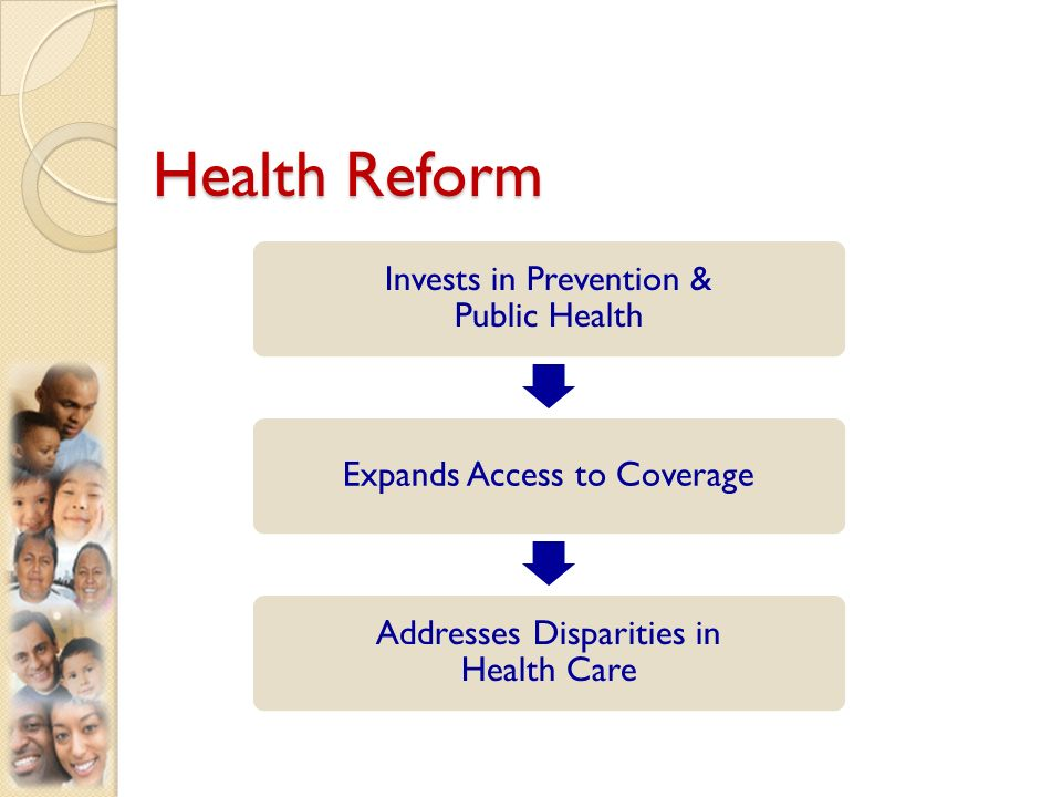 Health Reform Invests in Prevention & Public Health Expands Access to Coverage Addresses Disparities in Health Care