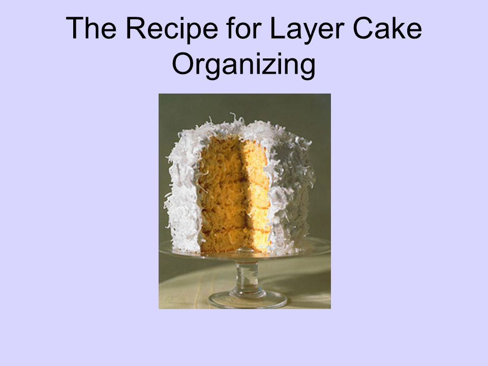 The Recipe for Layer Cake Organizing