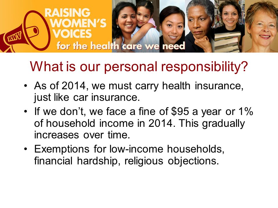 What is our personal responsibility.
