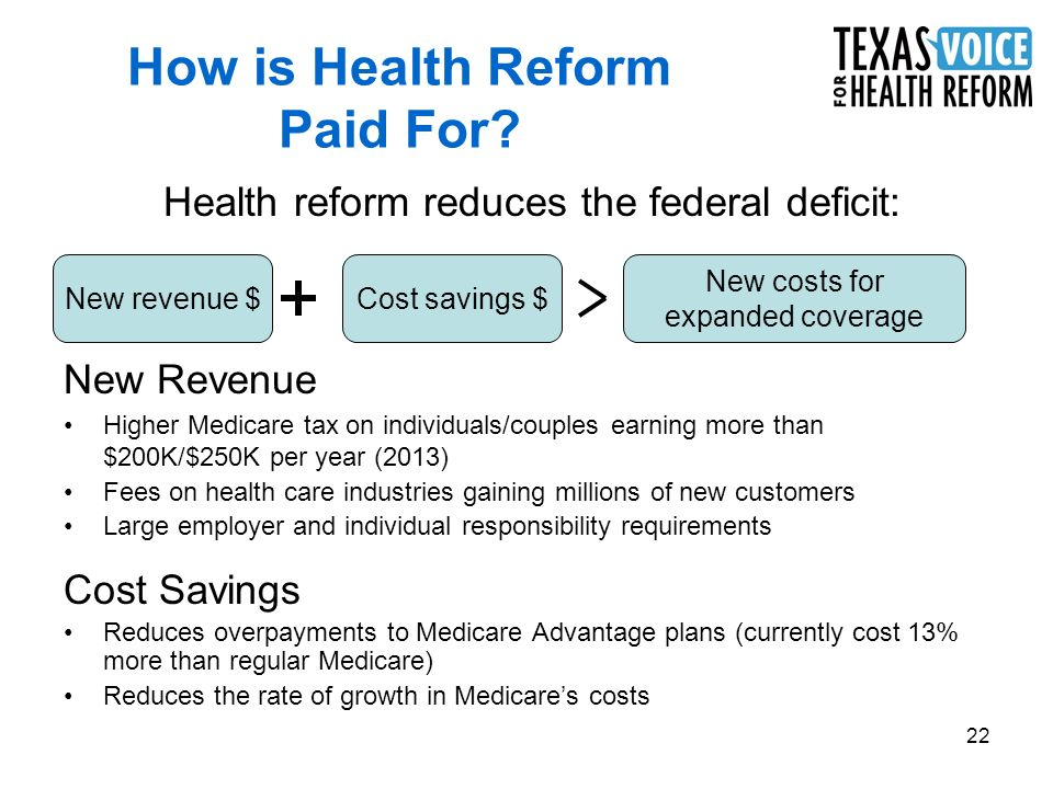 22 How is Health Reform Paid For.