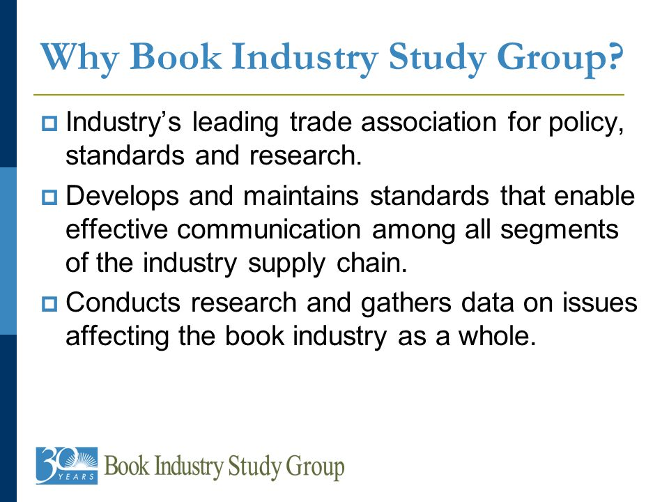 Industrys leading trade association for policy, standards and research.