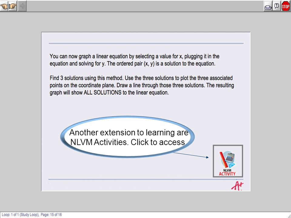 Another extension to learning are NLVM Activities. Click to access.
