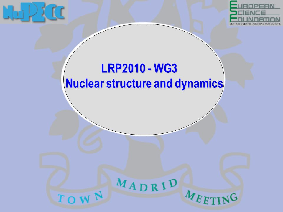 LRP2010 - WG3 Nuclear structure and dynamics