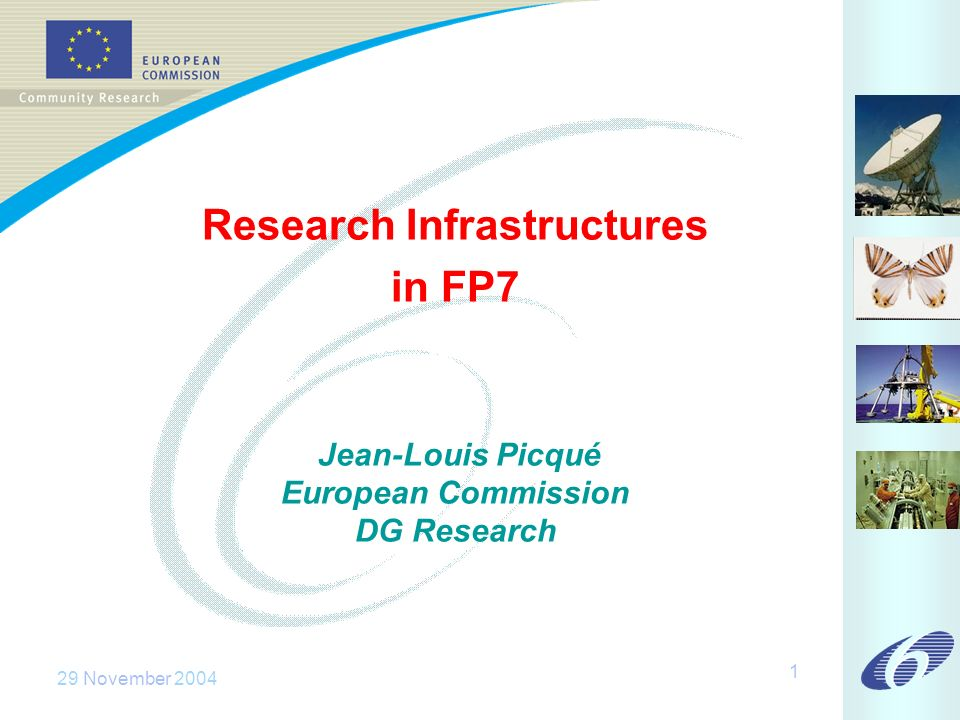 29 November Research Infrastructures in FP7 Jean-Louis Picqué European Commission DG Research