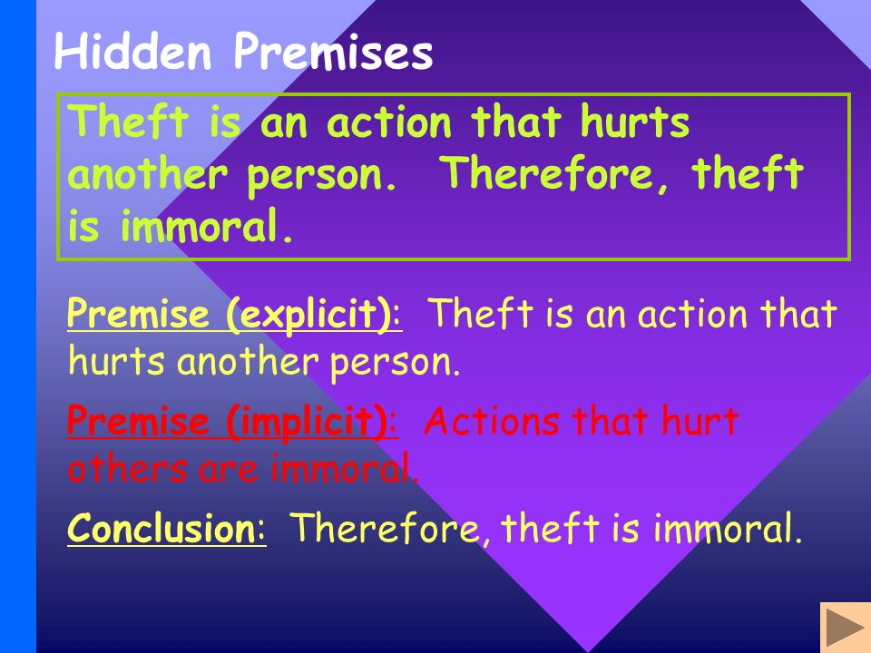 Hidden Premises Theft is an action that hurts another person.