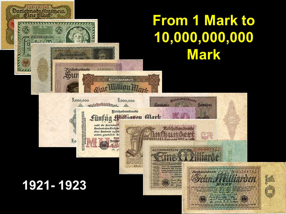 From 1 Mark to 10,000,000,000 Mark 1921- 1923